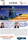 III CICLO DE CONFERENCIAS LEAN CONSTRUCTION EN LA UNI