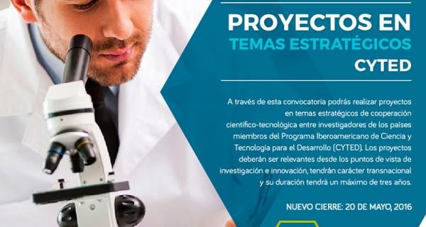 Proyectos en Temas Estratégicos - CYTED
