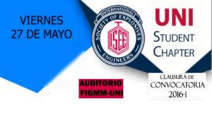 Clausura de Convocatoria 2016-I UNI Student Chapter