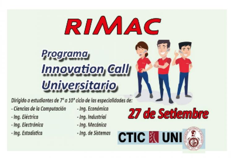 RIMAC - PROGRAMA INNOVATION CALL UNIVERSITARIO